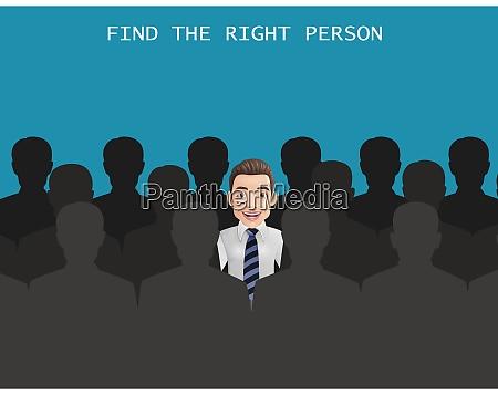 finden sie die richtige person fuer