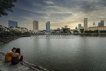 die singapur flusslandschaft