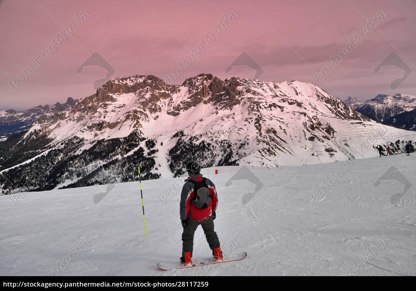 skifahren, in, südtirol - 28117259
