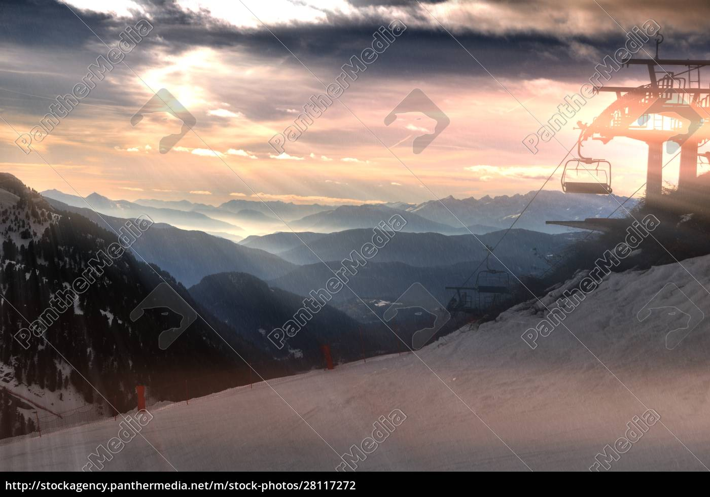 skifahren, in, südtirol - 28117272