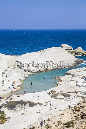 sarakiniko beach milos island cyclades greece