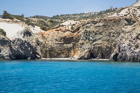 tsigado beach milos island cyclades greece