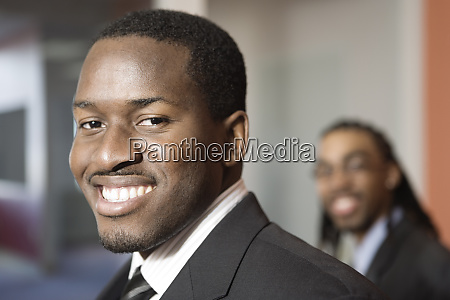 portrait of a smiling young business