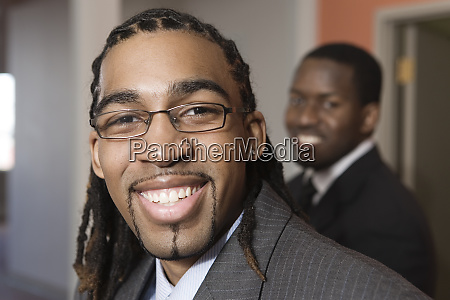 portrait of a young businessmen smiling