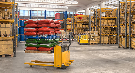 interior of a storage warehouse with