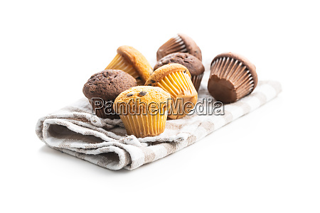 sweet muffins cupcakes with chocolate