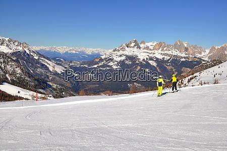 skifahren, in, südtirol - 28131861