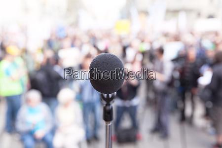 protest OEffentliche demonstration