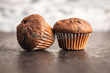 tasty chocolate muffins sweet cupcakes
