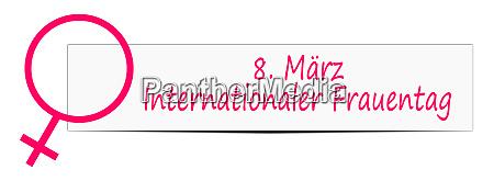 internationaler frauentag banner 8 maerz