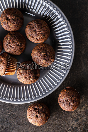 leckere, schokoladen-muffins., süße, cupcakes. - 28135281