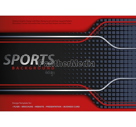 abstract red black background in sport