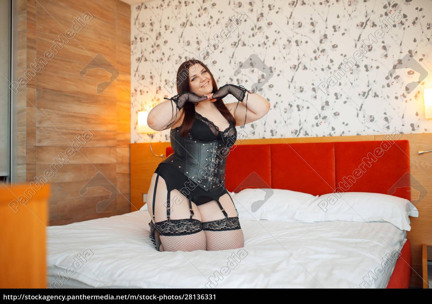 fat, perverse, woman, in, erotic, lingerie - 28136331