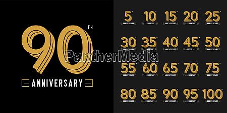 satz von jahrestag logo goldenes jubilaeums