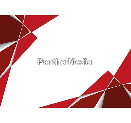 red geometric background with layers