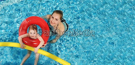 mother with child having fun in