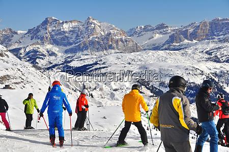 skifahren, in, südtirol - 28140821