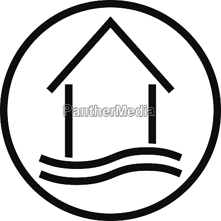 haus wellen ferienhaus immobilien logo symbol
