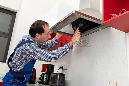 elektriker reparatur kueche extractor