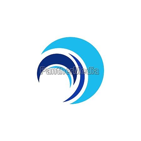 kreis welle logo abstrakte elemente wasser