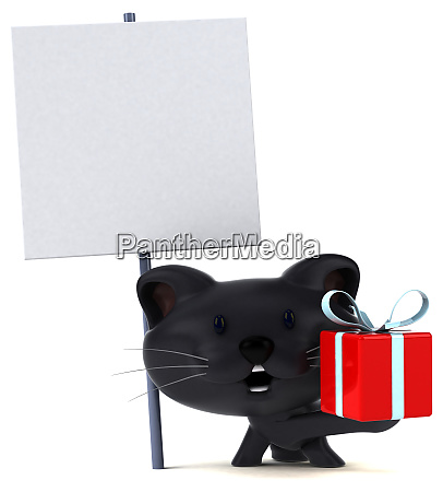 spass katze 3d illustration