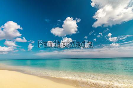 perfekter sandstrand transparent ruhiges tropisches meer