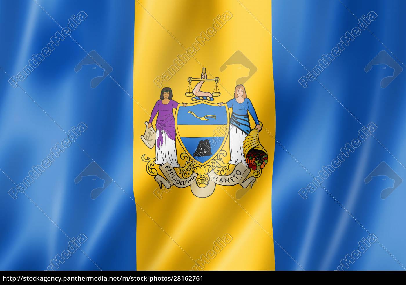 philadelphia, city, flag, , pennsylvania, , usa - 28162761