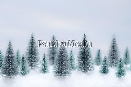 christbaumschmuck im schnee
