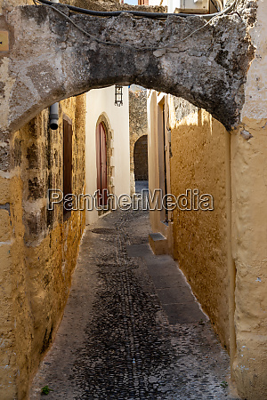 narrow alley lane in the