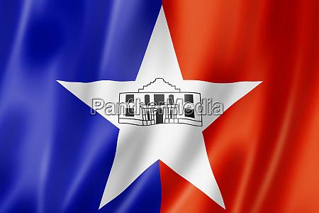 stadtflagge von san antonio texas usa