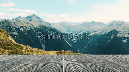 terrasse mit herrlicher aussicht panorama mit