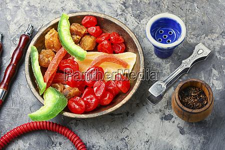 shisha mit kandierten fruechten