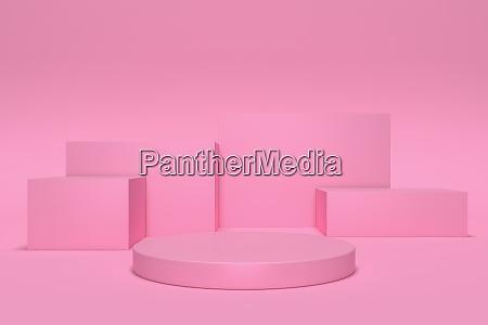 3d render abstrakte geometrische hintergrund zylinder