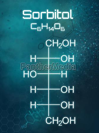 chemische formel von sorbitol auf einem
