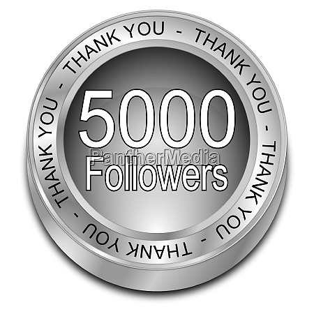silver 5000 followers thank you