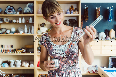 woman working with different kinds of