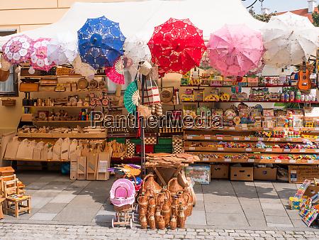 wicker goods stand varazdin kroatien spancirfest