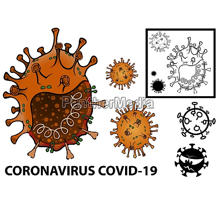 grafische illustration des coronavirus