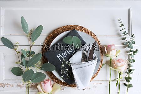 floristik fuer eine hochzeit ort einstellung