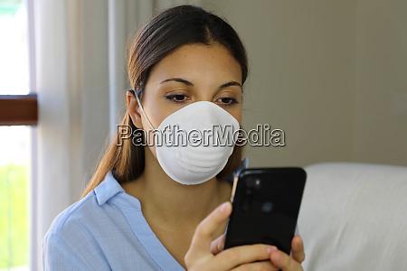 covid 19 pandemie coronavirus maske frau