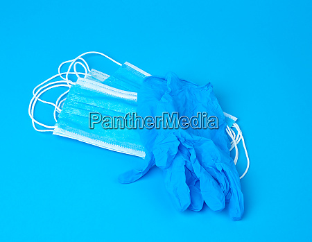 disposable gloves and stack of medical