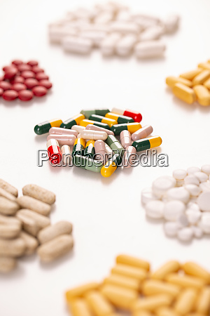 verschiedene arzneimittelische pillen