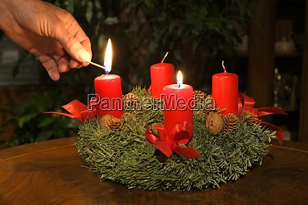 adventkranz in OEsterreich adventskranz in