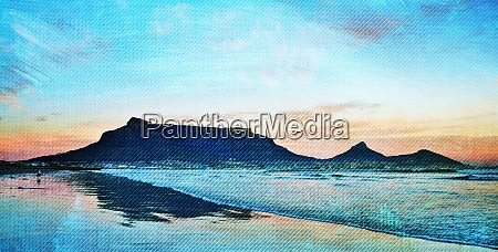 landscape with the atlantic ocean and
