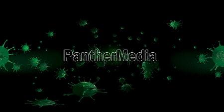 3d rendering mikroskop virus bakterien aus