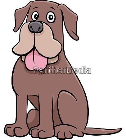 lustige cartoon hund tier charakter