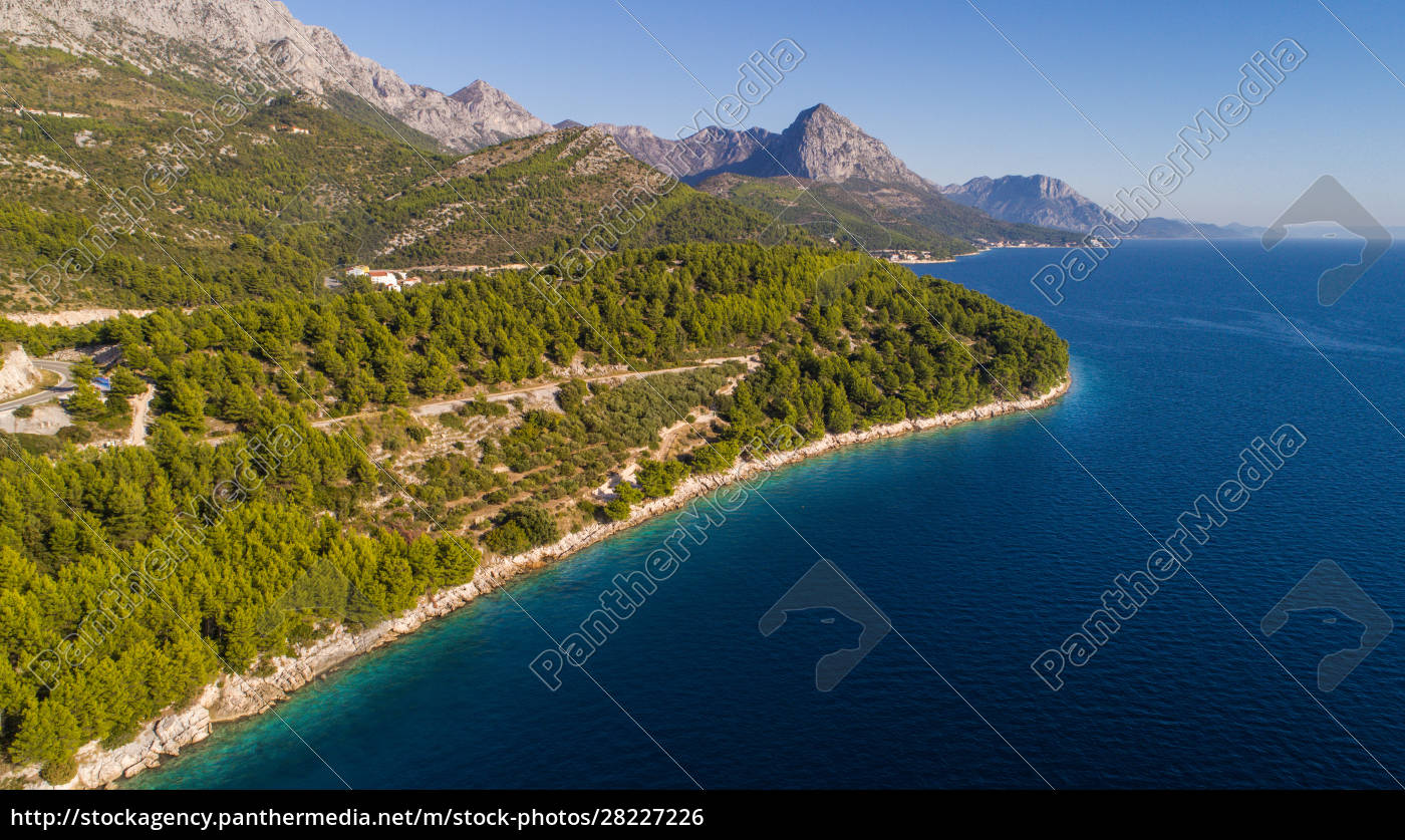 aerial, view, of, coastline, near, drvenik, - 28227226