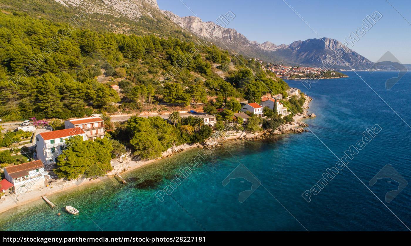 luftaufnahme, der, küste, bei, zaostrog, dalmatien, kroatien - 28227181