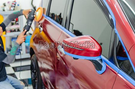 polieren der autobeschichtung