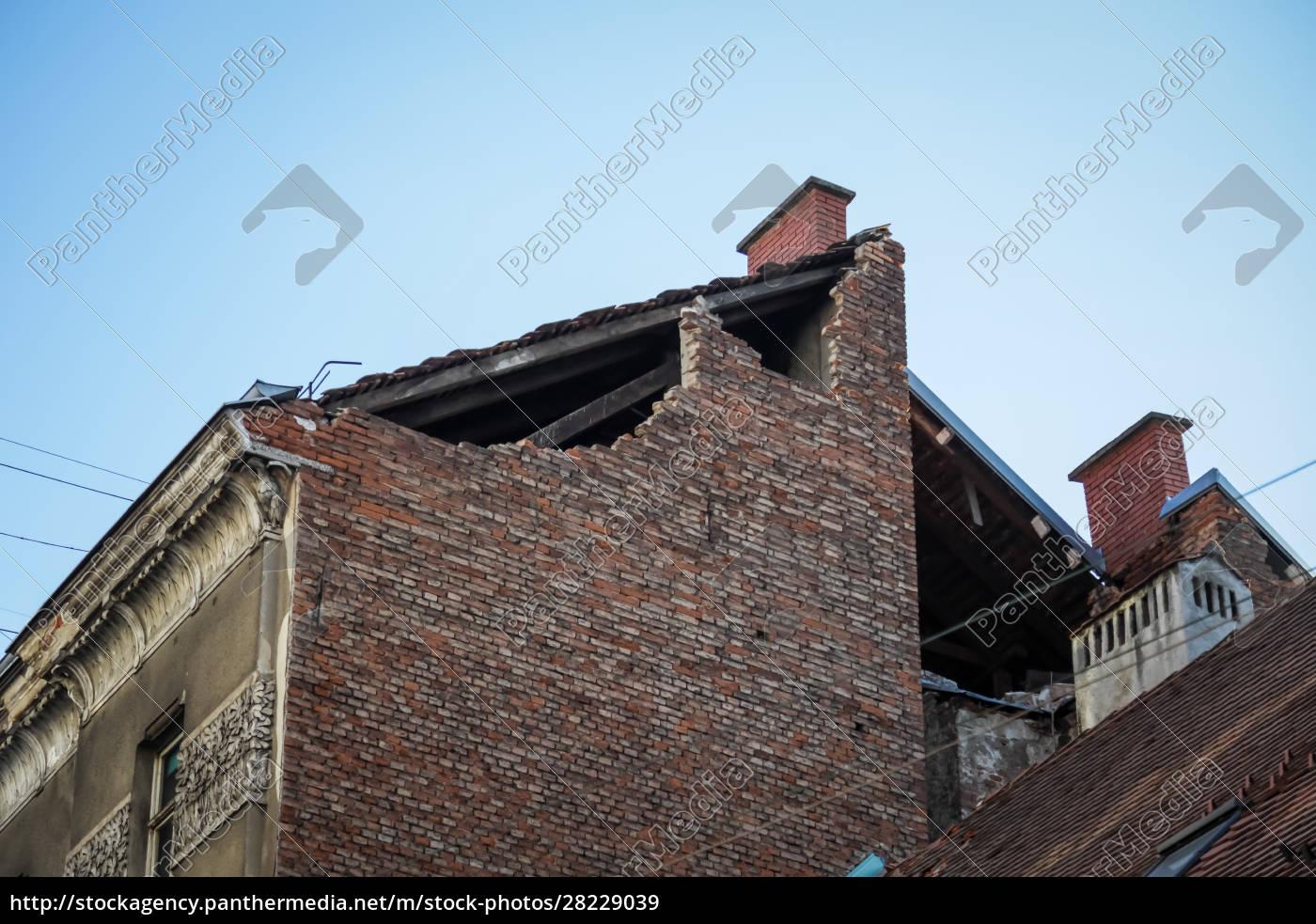 zagreb, vom, erdbeben, getroffen - 28229039